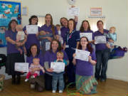 Peer Supporters collecting their certificates in March 2010